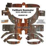 FatShark Dominator V2 V3 HD2 HD3 Skin Wrap Decal Fat Shark Old Wood