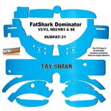 FatShark Dominator V2 V3 HD2 HD3 Skin Wrap Decal Fat Shark Blue