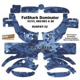 FatShark Dominator V2 V3 HD2 HD3 Skin Wrap Decal Fat Shark Navy Blue Camouflage