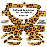 FatShark Dominator V2 V3 HD2 HD3 Skin Wrap Decal Fat Shark Leopard Skin