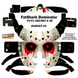 FatShark Dominator V2 V3 HD2 HD3 Skin Wrap Decal Fat Shark Bloody Eyes Mark
