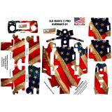 American USA Flag DJI Mavic 2 Pro Zoom Skin Wrap Decal Sticker Battery Body Ultradecals