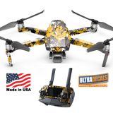 Yellow Camouflage DJI Mavic 2 Pro Zoom Skin Wrap Decal Sticker Battery Body Ultradecals