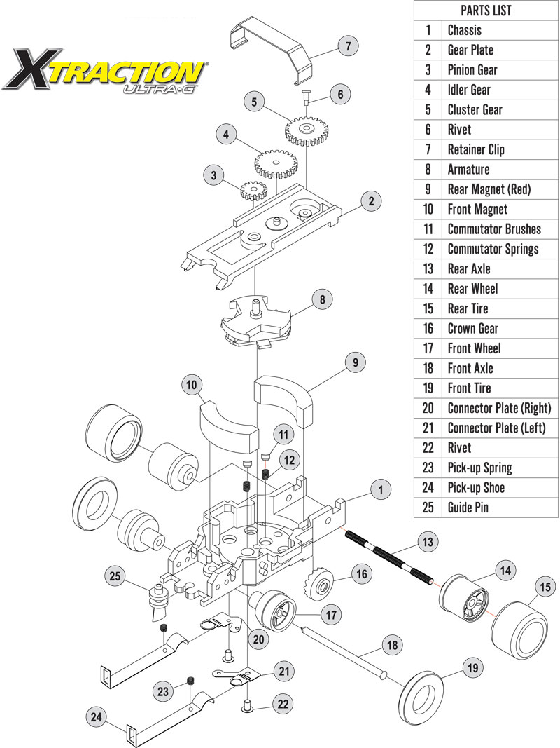 Auto World Xtraction Chassis Parts Front Wheel 12pk Ho