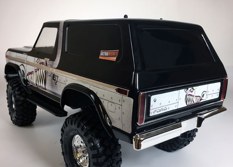 Gold Traxxas TRX4 Bronco Body Skin Wrap Decal TRX-4