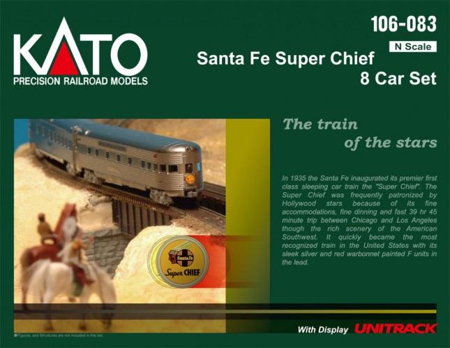 Kato 106-083 N Santa Fe Super Chief 8-Car Passenger Set 2019 Release