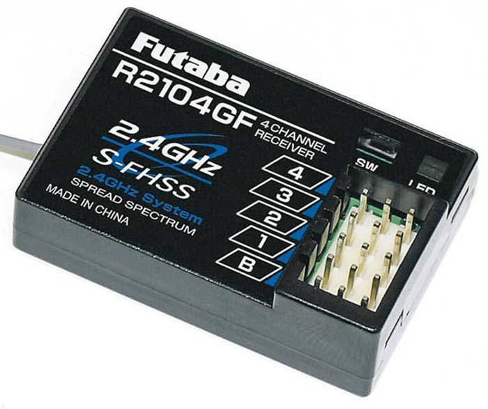 punto vendita Nuovo Futaba 4-Channel 2.4GHz S-FHSS Receiver 2PL 3PL 4PL R2104GF R2104GF R2104GF  offerta speciale