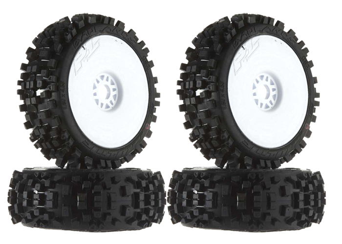 Proline 9021-18 1//8 Badlands XTR All Terrain Buggy Tires Mounte