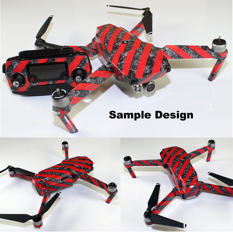 95e1f80df6a DJI Mavic Pro Skin Wrap Decal Sticker Red Camouflage Battery Body  Ultradecals. Click Thumbnails to Enlarge.