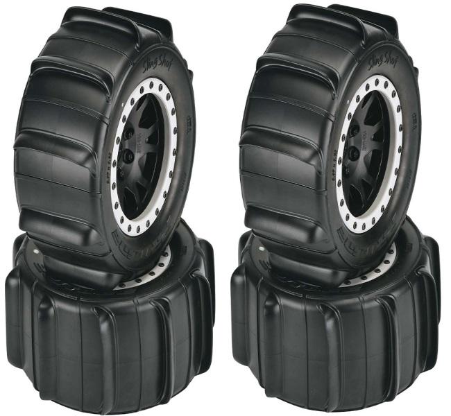 "Pro-Line Sling Shot 4.3/"" Sand Tires on Impulse Pro-Loc Traxxas X-Maxx Rims 2"