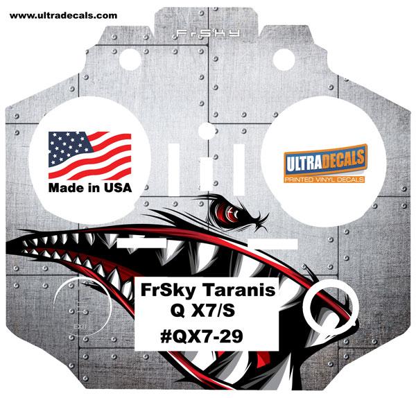 Details about Shark Teeth Taranis Q X7 X7S Radio Skin Wrap Transmitter QX7  Ultradecals