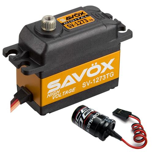 Savox SV-1273TG Ultra Velocidad Alta Tensión Titanio Gear Servo Digital + Glitch..