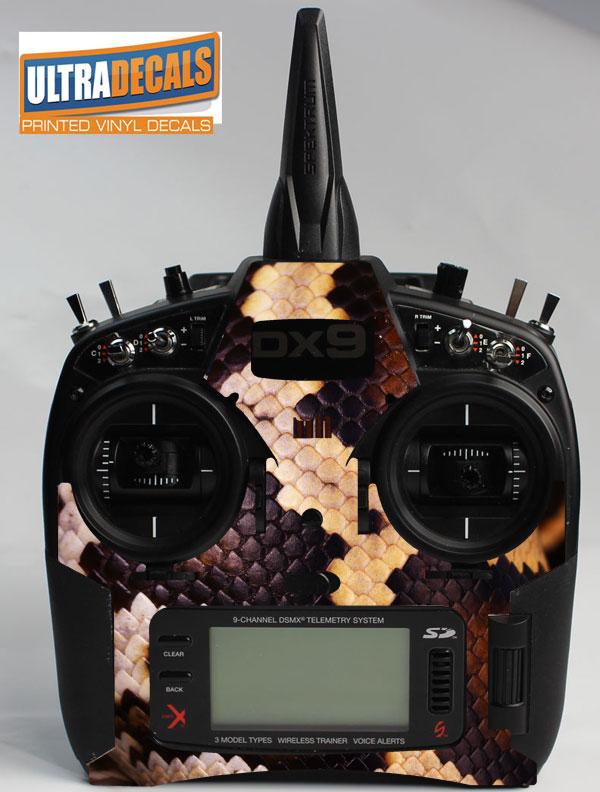 Details about Spektrum DX9 DX8 DX7S Python Snake Skin Wrap Decal  Transmitter Controller