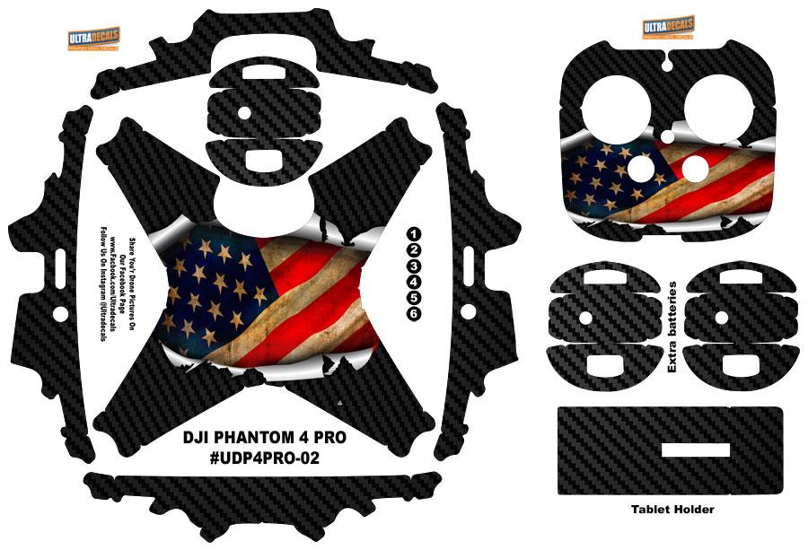 Details about DJI Phantom 4 Pro American Flag Carbon Fiber Skin Wrap Decal  Sticker USA