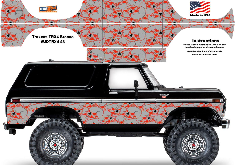 Body Parts & Interior Green Traxxas TRX-4 Bronco Body Skin